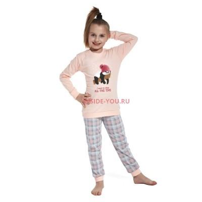 Детская пижама CORNETTE 592/594  РОЗОВЫЙ+СЕРЫЙ