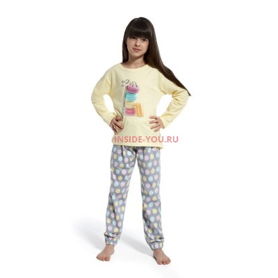Детская пижама CORNETTE  ЖЕЛТЫЙ СЕРЫЙ