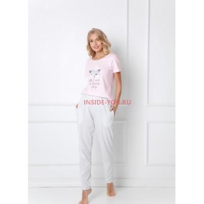 Женская пижама со штанами ARUELLE TRIXIE PINK