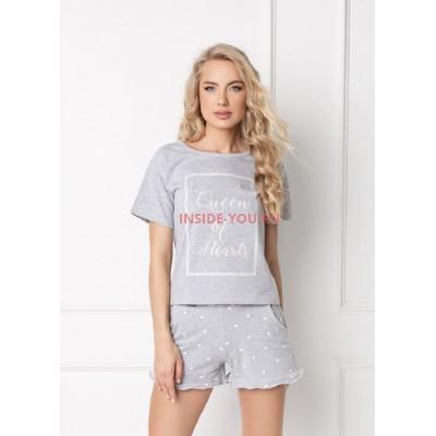 Женская пижама с шортами ARUELLE HEARTY GREY