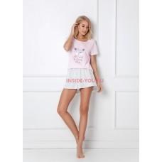 Женская пижама с шортами ARUELLE TRIXIE PINK