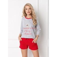 Женская пижама с шортами ARUELLE COOKIE GREY