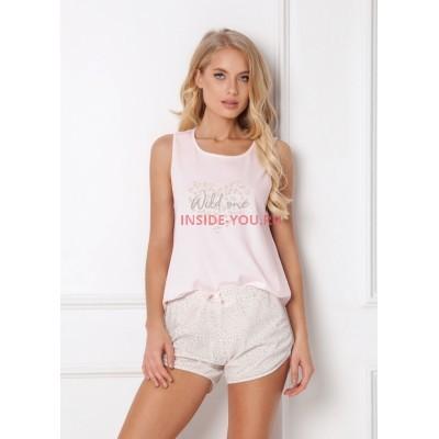 Женская пижама с шортами ARUELLE PRISCILLA PINK