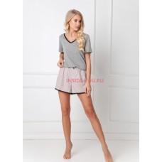 Женская пижама с шортами ARUELLE GWEN DARK GREY