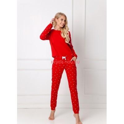 Женская пижама со штанами ARUELLE HEARTY RED