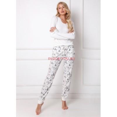 Женская пижама со штанами ARUELLE WOODS WHITE