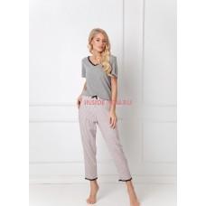 Женская пижама со штанами ARUELLE GWEN DARK GREY