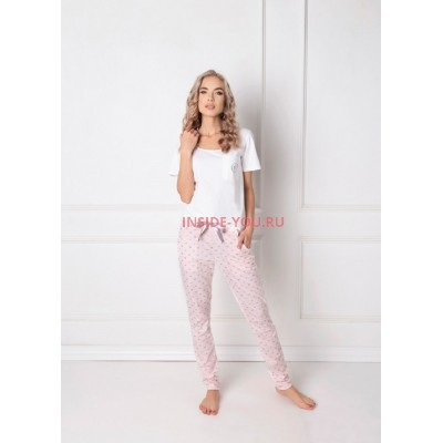 Женская пижама со штанами ARUELLE Q WHITE