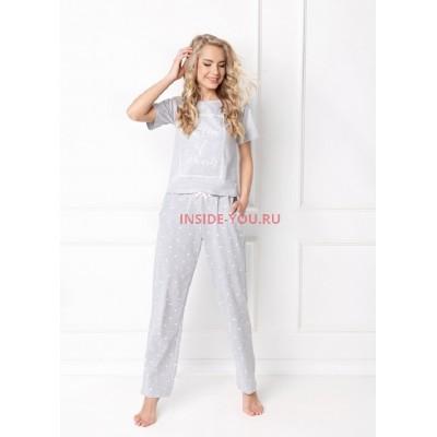 Женская пижама со штанами ARUELLE HEARTY GREY