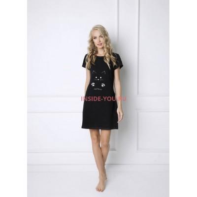 Женская сорочка ARUELLE CATWOMAN BLACK