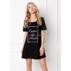 Женская сорочка ARUELLE HEARTY BLACK