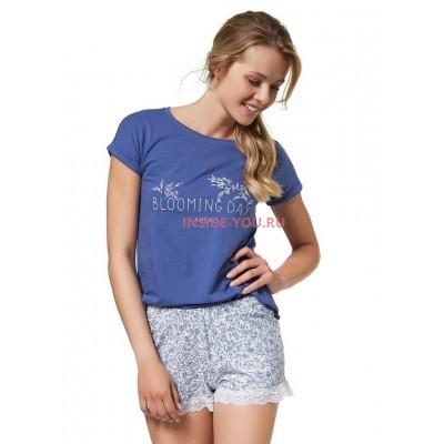 Женская пижама с шортами ESOTIQ 37727 BLOOMING