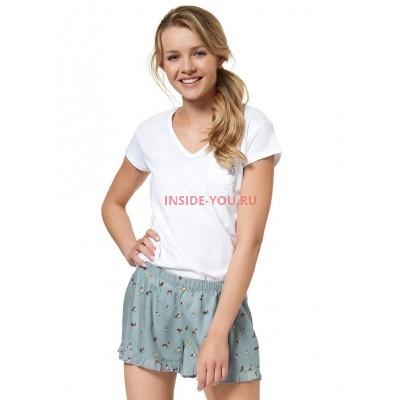 Женская пижама с шортами ESOTIQ 37756 BARKY