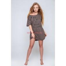 Женская сорочка SENSIS OVERSIZE BROWN