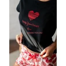 Женская пижама с шортами SENSIS YOUR HEART