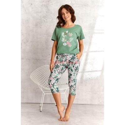 Женская пижама со штанами Taro SS21 KALI DONATA зеленый