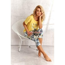 Женская пижама со штанами Taro SS21 KALI DONATA Желтый