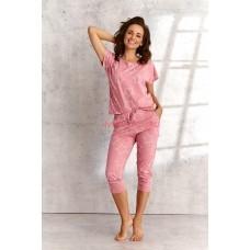 Женская пижама со штанами Taro 2490 SS21 OKSA розовый