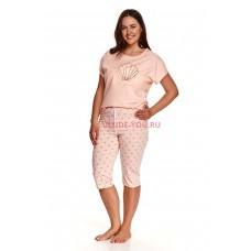 Женская пижама со штанами Taro 2371/2377 SS21 MONA Персик
