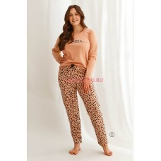 Женская пижама со штанами Taro 2607/2608 21/22 CORA Леопард