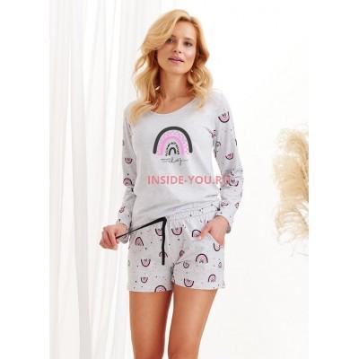 Женская пижама с шортами Taro 2439 AW20/21 MOCCA