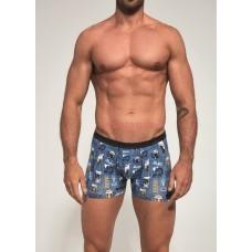 Мужские трусы-боксеры CORNETTE Tattoo Mini 280-3 Синий+желтый