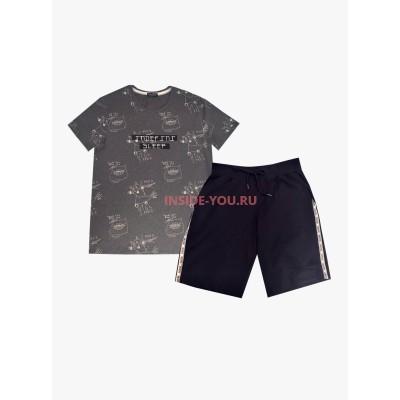 Мужской комплект домашней одежды INDEFINI 819004