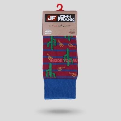 Мужские высокие носки  JOHN FRANK  KAKTUS