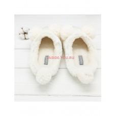 Тапочки HALLUCI Мишки белые